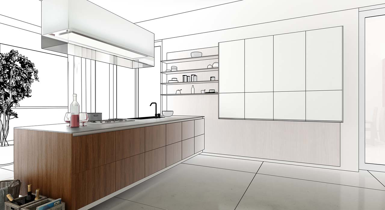 Kitchen accented in Wood (project)