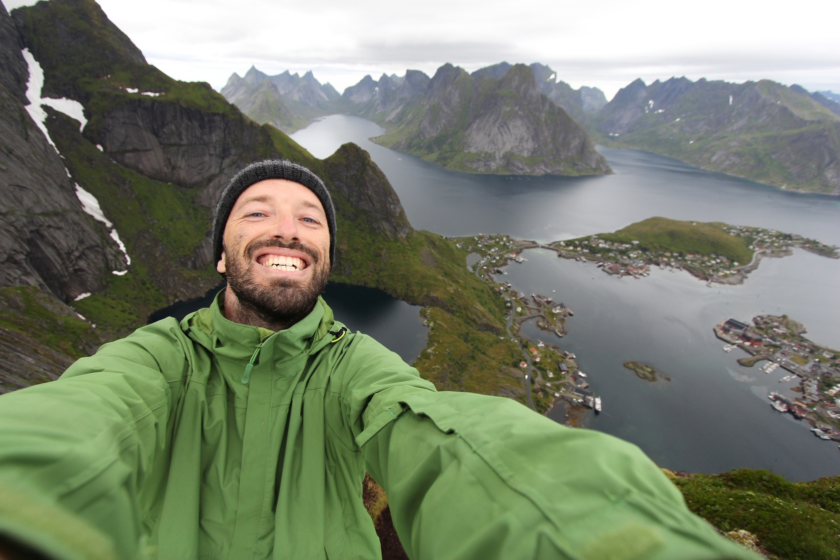 Tourist selfie in Norway