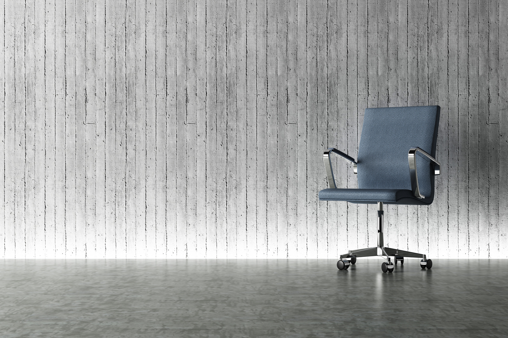 office chair and concrete wall interior